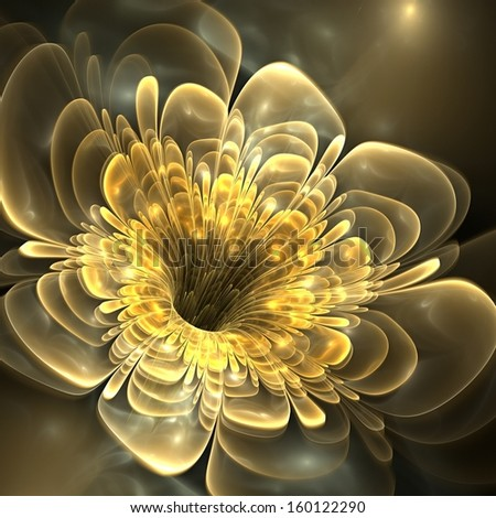 Abstract floral fractal background - stock photo