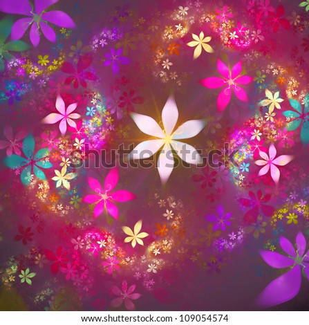 Stock photo abstract floral fractal background for art projects