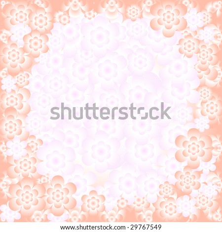 Abstract floral gentle pink pattern with place for the text