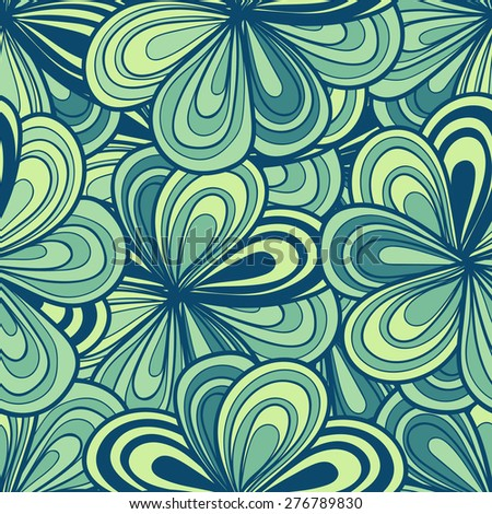 Abstract floral hand-drawn seamless pattern. illustration can be copied without any seams. raster version - stock photo