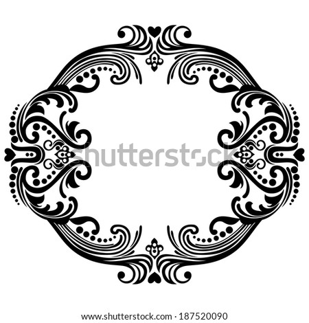 Abstract floral pattern on white background. Perfect for invitations or announcements. Raster Version. - stock photo