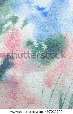 Abstract Floral Watercolour