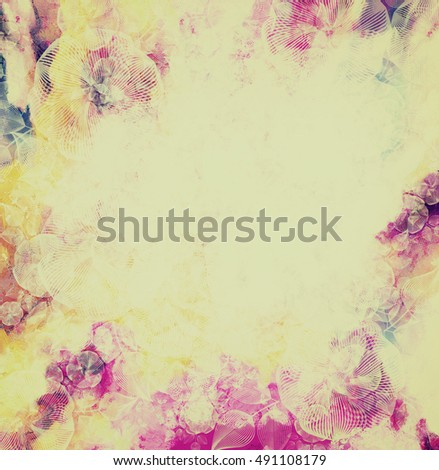 Pink And Yellow Flower Background