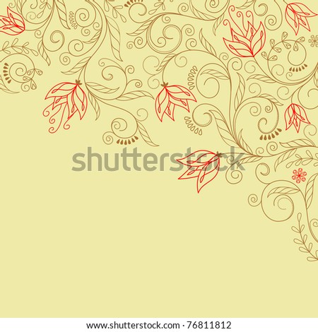 Abstract flower background with decoration elements for seasonal design. Vector version also available in gallery