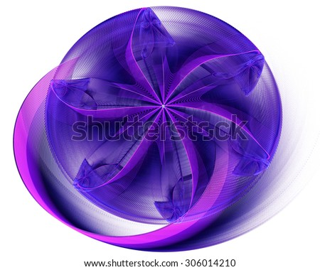 abstract flower in a bowl on a white background 3D - stock photo