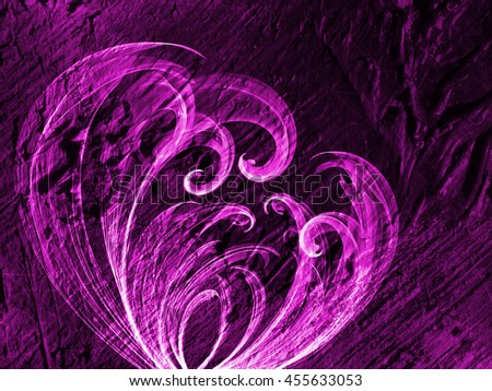 abstract flower line weave violet gradient colored background