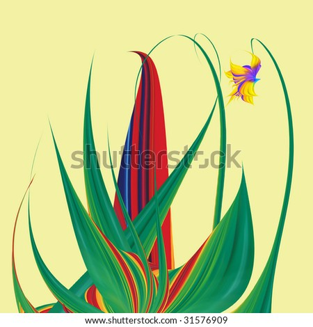 Abstract flower on white background