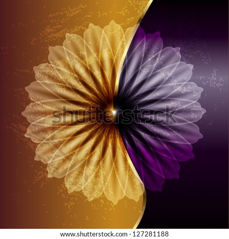 Abstract flower. Raster copy of vector image - stock photo