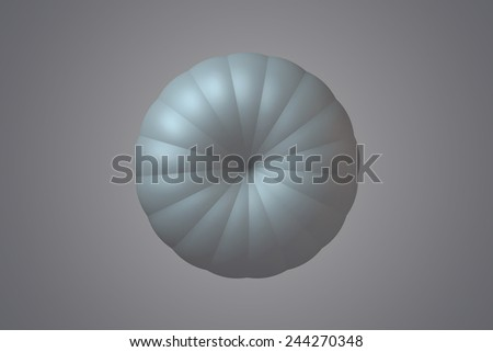 abstract  flowers futuristic background  art flower render circles colored - stock photo