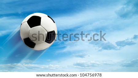 abstract football ar soccer backgrounds against blue skies - stock photo