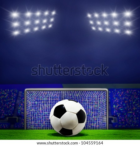 abstract football or soccer backgrounds - stock photo