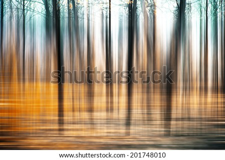 abstract forest in motion blur ,abstract colorful background - stock photo