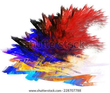 abstract Fractal and white background - stock photo