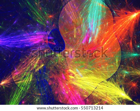 Abstract fractal background