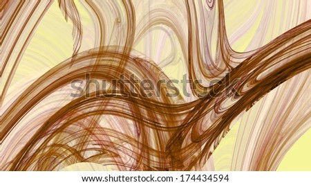 Abstract fractal background in brown tones  - stock photo