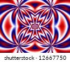 Abstract fractal background in patriotic red, white and blue. - stock photo