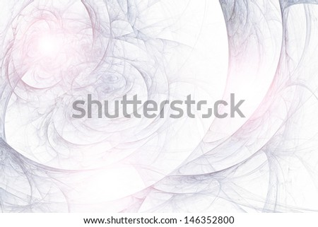 Abstract fractal background in white  blue lilac colors - stock photo