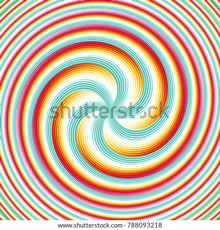 Abstract fractal background Striped Twisted Spiral computer-generated image. Beautiful abstract background for wallpaper. Fractal digital artwork for creative graphic design.