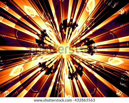 abstract fractal background with crossed lines and light effect