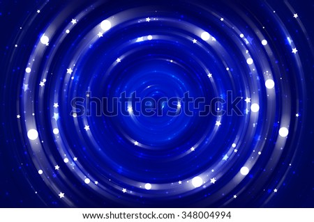 Abstract fractal blue background with crossing circles and ovals. disco lights background.