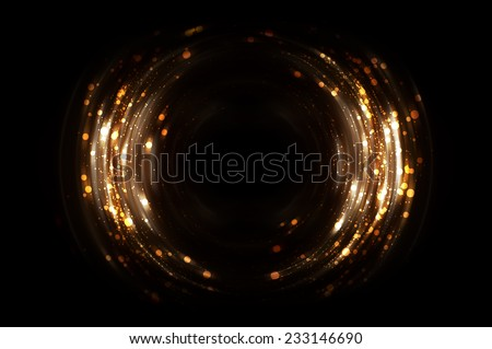 Abstract fractal brown background with crossing circles and ovals. disco lights background. - stock photo