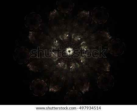 Abstract fractal color background with crossing circles and ovals. Motion illustration.
