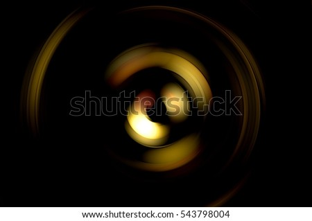 Abstract fractal colorful background with crossing circles and ovals. Light motion illustration. Presentation title template.