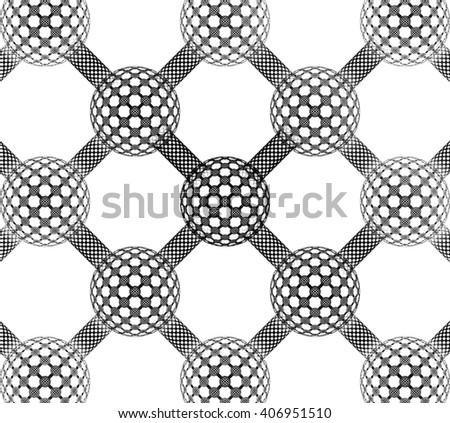 Abstract fractal design. Black and white fractal. Abstract texture. - stock photo
