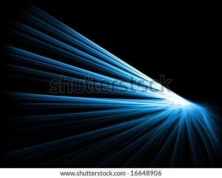 Abstract fractal design in blue and black - stock photo