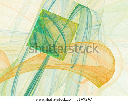 Abstract fractal design with different shapes - stock photo