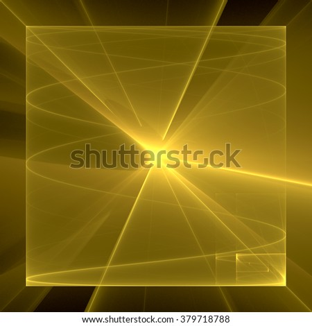 Abstract fractal geometric background - stock photo