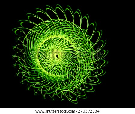Abstract fractal glowing ball, for use in the field of design and entertainment - stock photo