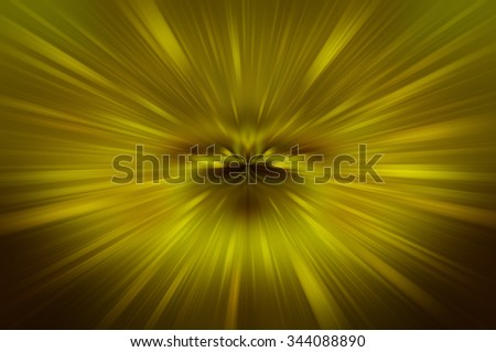 Abstract fractal gold background. Magic illustration