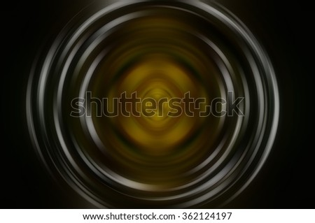 Abstract fractal golden background with crossing circles and ovals. disco lights background.