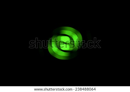 Abstract fractal green background light lines - stock photo