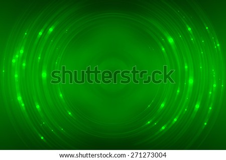 Abstract fractal green background with crossing circles and ovals. disco lights background - stock photo