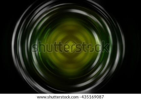 Abstract fractal green background with crossing circles and ovals. disco lights background.