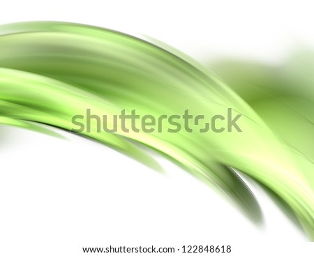 Abstract fractal green weaves on white background