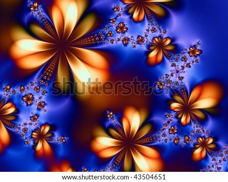 Abstract Fractal Illustration - stock photo