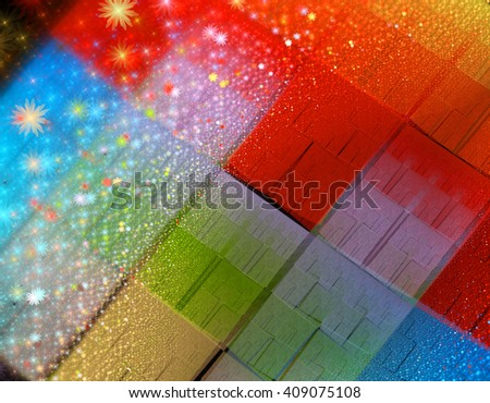 Abstract fractal illustration for creative design - stock photo