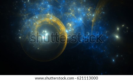 Abstract fractal illustration looks like galaxies