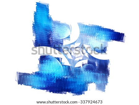 Abstract fractal image of a geometric shape , rotation , boomerang . Graphic element for creative design .