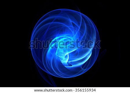 Abstract fractal magic ball background - stock photo
