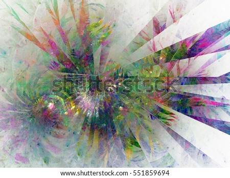Abstract fractal on a white background. Design element for brochure, advertisements, presentation, web and other graphic designer works. Digital collage.