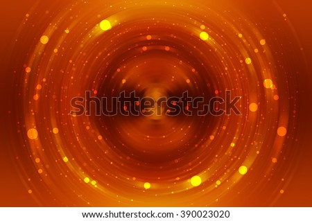 Abstract fractal orange background with crossing circles and ovals. disco lights background.