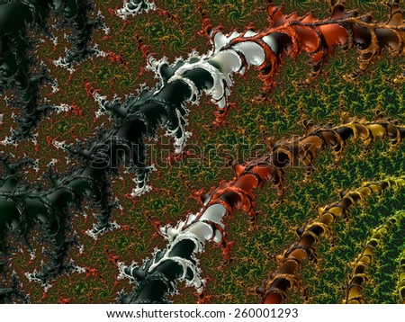 Abstract fractal patterns and shapes. Fractal texture. For Puzzle or Tie prints or other highquality prints.