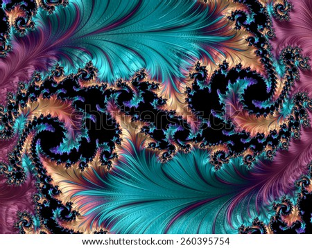 Abstract fractal patterns and shapes. Fractal texture. For Puzzle or Tie prints or other high-quality prints. - stock photo