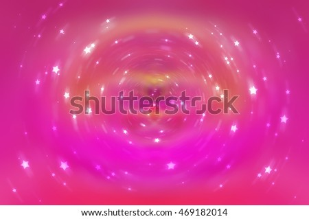 Abstract fractal pink background with crossing circles and ovals. disco lights background. illustration technology.