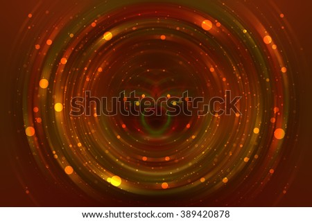 Abstract fractal red background with crossing circles and ovals. disco lights background.