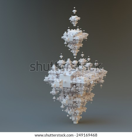 Abstract fractal solid.  - stock photo